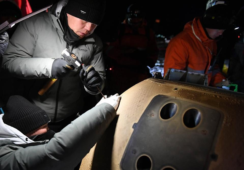 The capsule`s contents will be removed in a dedicated laboratory