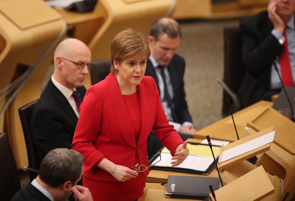 First Minister Nicola Sturgeon denies breaching the ministerial code (Jane Barlow/PA)
