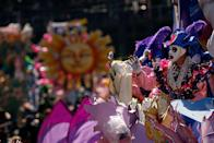 """<p>Historians believe Mardi Gras arrived in North America in 1699 and then spread to New Orleans in 1718. <a href=""""http://www.history.com/news/9-things-you-may-not-know-about-mardi-gras"""" rel=""""nofollow noopener"""" target=""""_blank"""" data-ylk=""""slk:The Mistick Krewe of Comus"""" class=""""link rapid-noclick-resp"""">The Mistick Krewe of Comus</a> was the first to roll floats about 60 miles from New Orleans in 1856. Krewe of Rex was the first of the type of parade krewes we see today. </p>"""