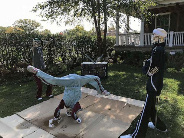 PHOTO: In 2017 Joseph Lee decorated his yard with break dancing skeletons for Halloween. (Courtesy Joseph Lee)