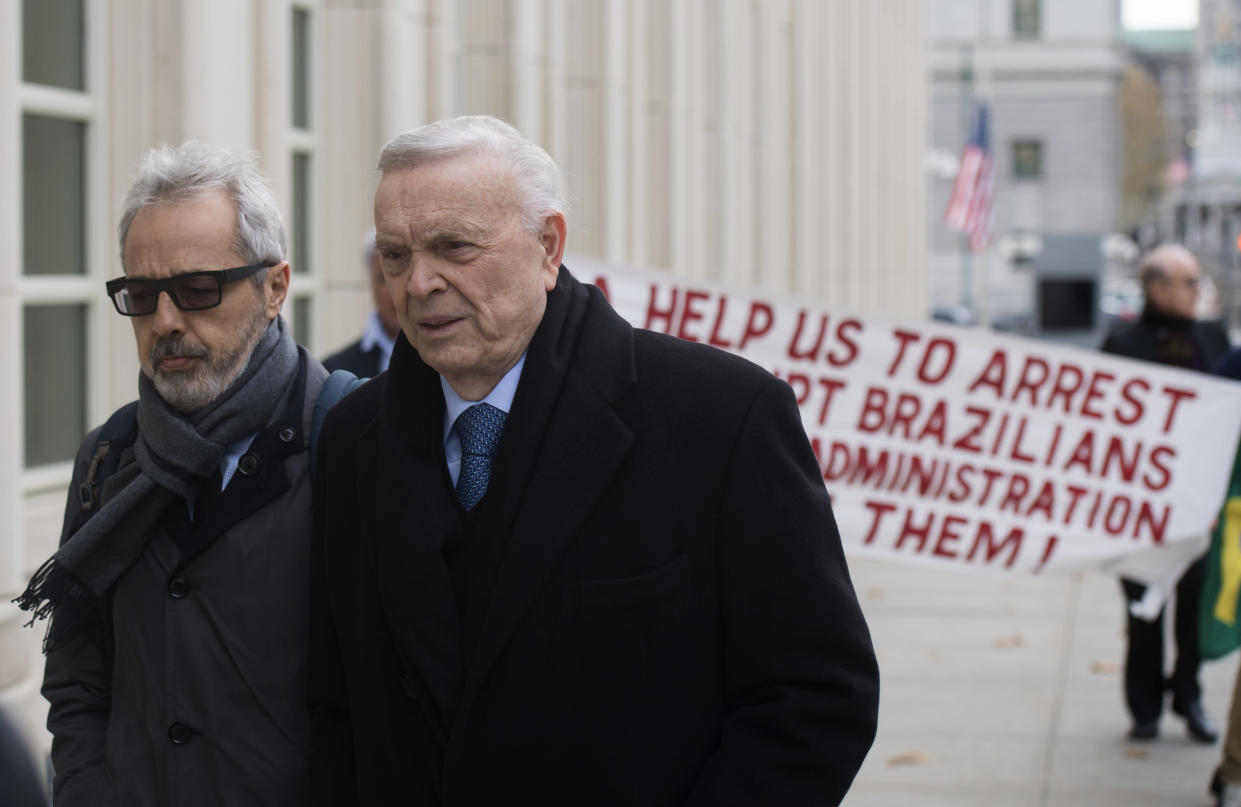 Jose Maria Marin arrives at federal court in Brooklyn. (Getty)