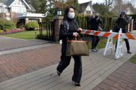 Huawei Technologies Chief Financial Officer Meng Wanzhou leaves her home to attend a court hearing in Vancouver