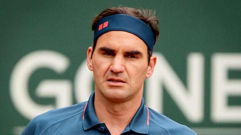 Pictured here, Roger Federer looking frustrated at the Geneva Open.