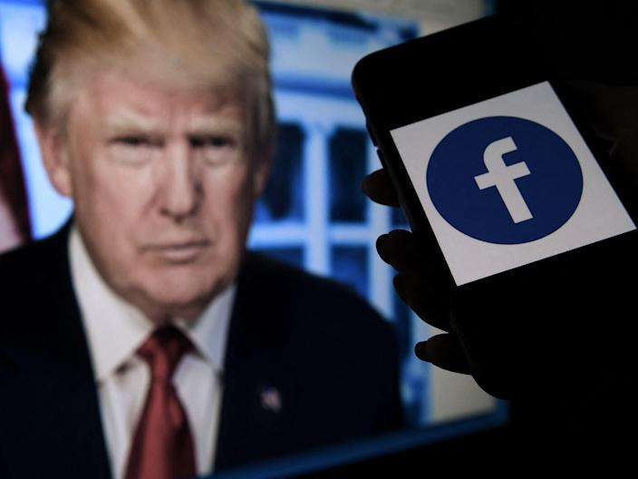 Donald Trump was banned from Facebook in the wake of the US Capitol attack (AFP via Getty Images)