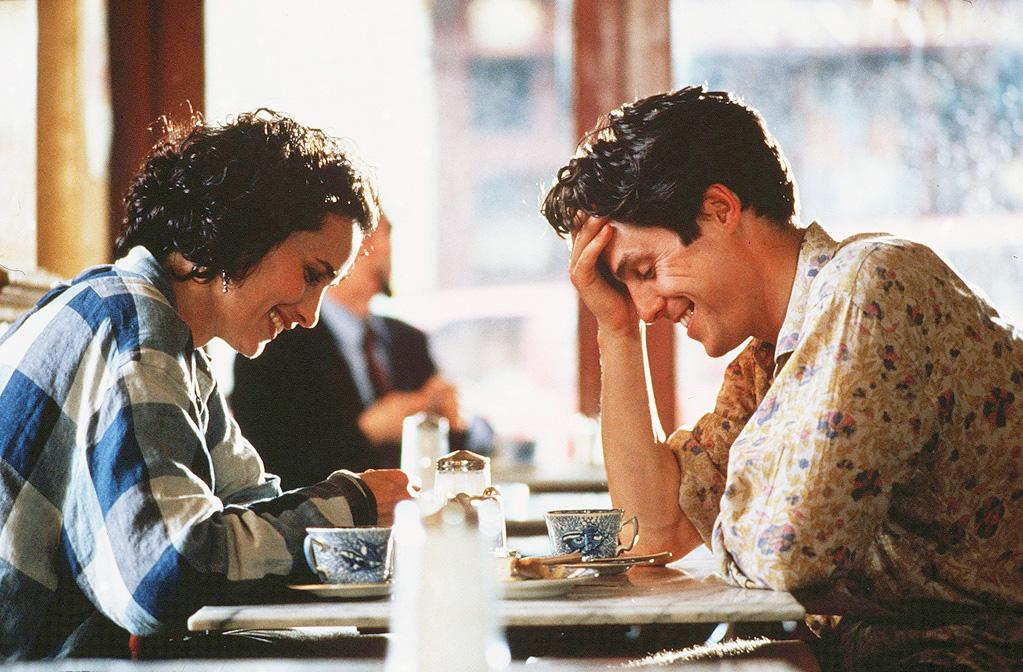 """<a href=""""http://movies.yahoo.com/movie/four-weddings-and-a-funeral/"""">FOUR WEDDINGS AND A FUNERAL</a> <br>Directed by: MIke Newell<br>Starring: Hugh Grant, Andie MacDowell, Simon Callow"""