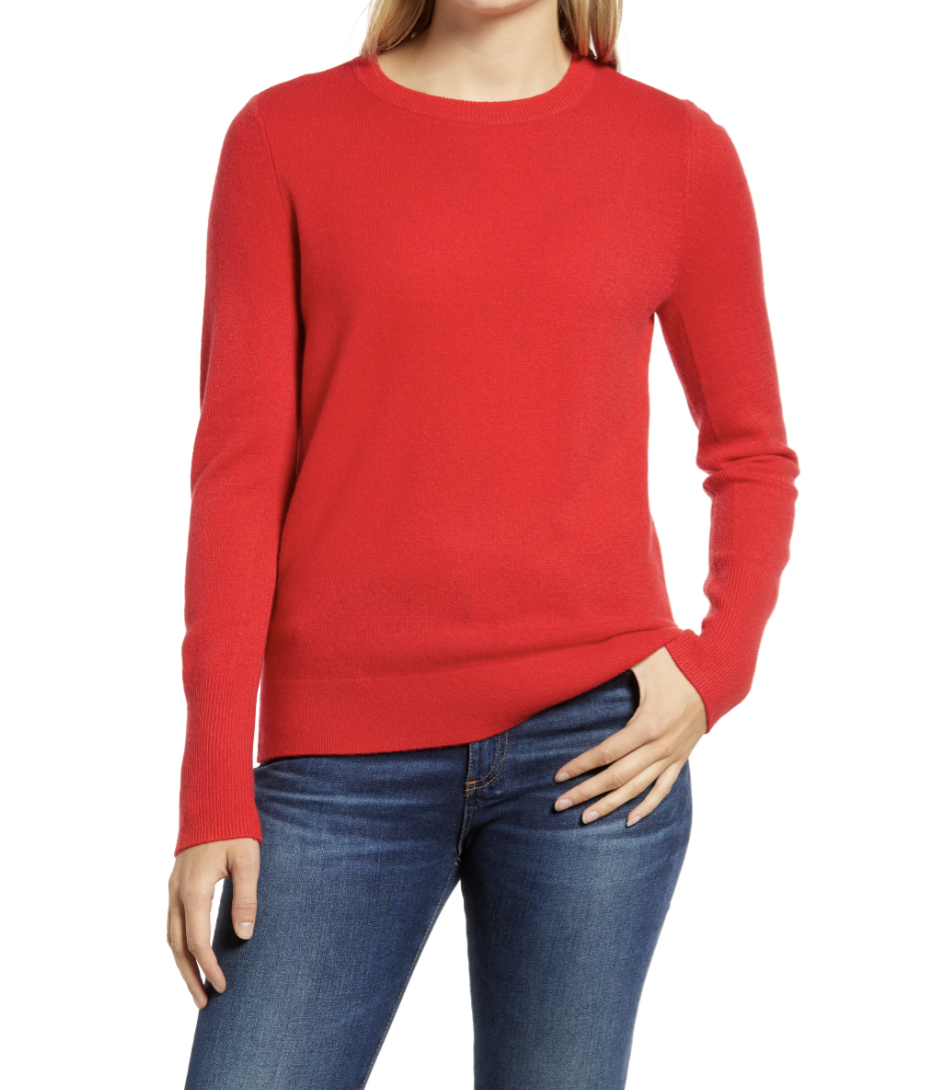 Halogen Crewneck Cashmere Sweater - Nordstrom, $49 (originally $98)