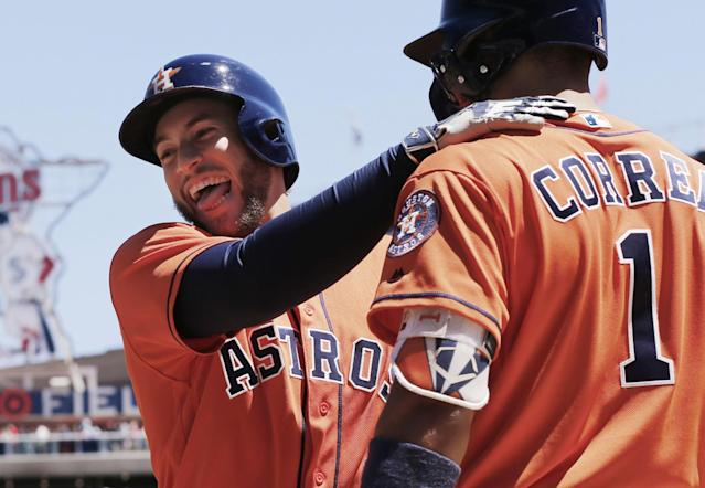 The Astros haven't lost in a week. Now they're World Series favorites. (AP)
