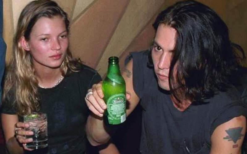 Johnny Depp with Kate Moss in the '90s - New York Daily News Archive