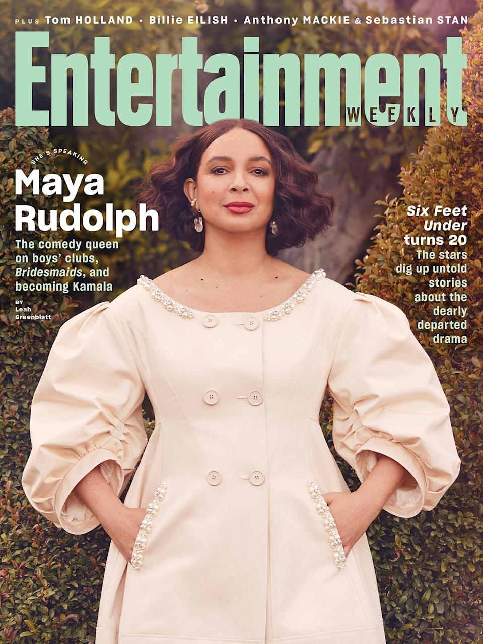 """<p><strong><em>For more on Maya Rudolph, <a href=""""https://www.magazine.store/entertainment-weekly/2021/maya-rudolph/"""" rel=""""nofollow noopener"""" target=""""_blank"""" data-ylk=""""slk:order the March issue"""" class=""""link rapid-noclick-resp"""">order the March issue</a> of </em>Entertainment Weekly<em> or find it on newsstands beginning Feb. 19. Don't forget to <a href=""""https://www.magazine.store/entertainment-weekly/?utm_source=ew.com&utm_medium=internal&utm_campaign=i902ewtbw1412"""" rel=""""nofollow noopener"""" target=""""_blank"""" data-ylk=""""slk:subscribe"""" class=""""link rapid-noclick-resp"""">subscribe</a> for more exclusive interviews and photos, only in EW.</em></strong></p>"""