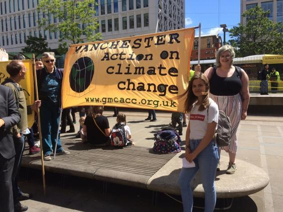 Student protesters turn out to make their point on a sunny Friday afternoon in Manchester (Colin Drury)
