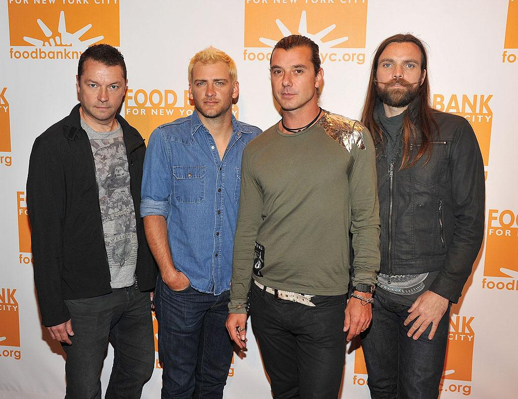 Rock band Bush, fronted by Gwen Stefani's hubby Gavin Rossdale (second  from right), performed for the guests in attendance. (4/17/2012)