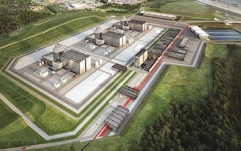 An artist's impression of the Moorside plant in Cumbria - Credit: NuGeneration