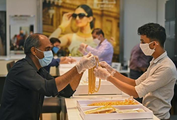 Dubai authorities say the emirate holds 14 percent of all the gold in global circulation (AFP Photo/Karim SAHIB)