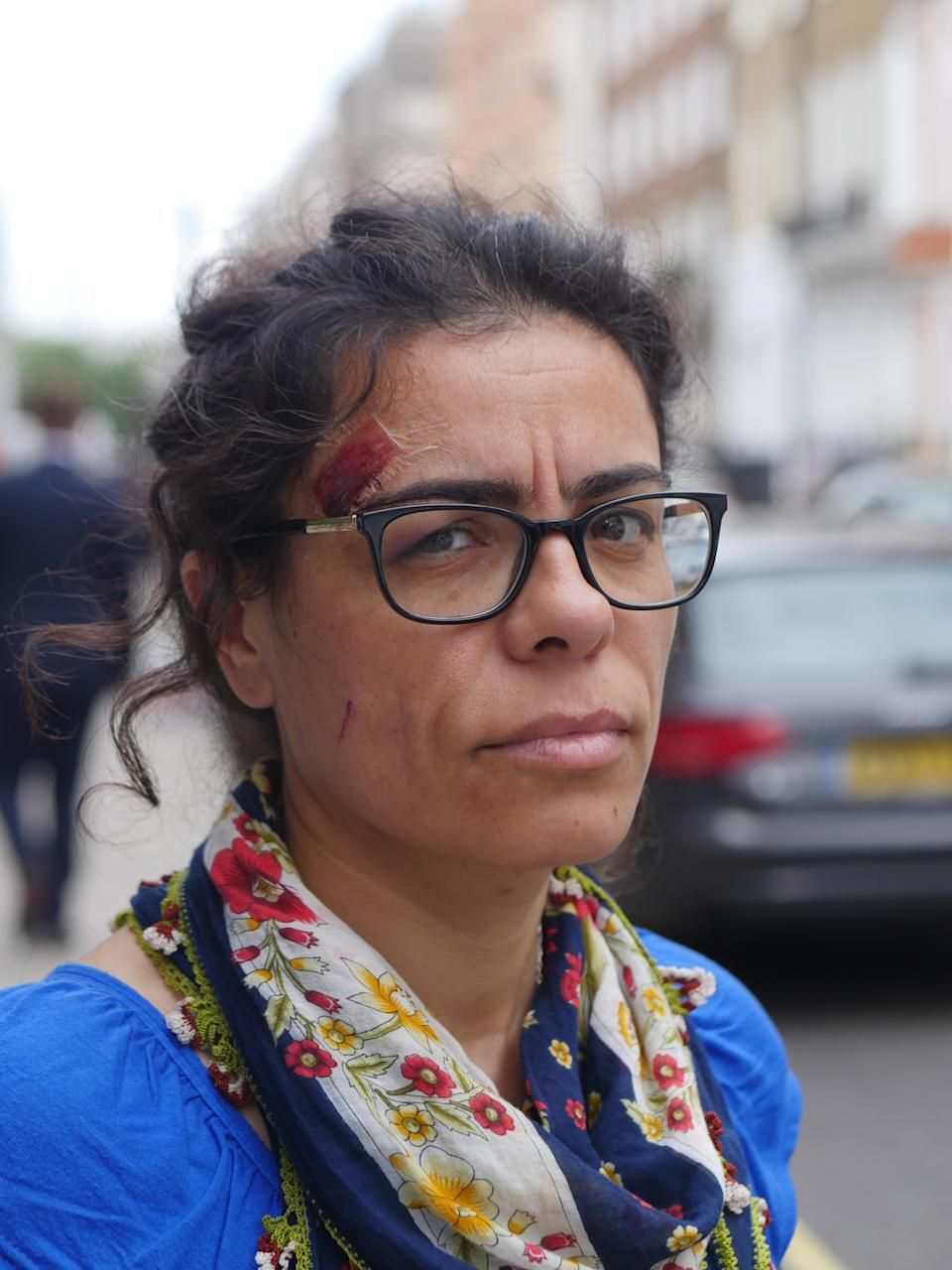 Hatun Tash, 39, an ex-Muslim who has converted to Christianity, was wearing a t-shirt of French satirical magazine Charlie Hebdo at the time of the attack. (Christian Concern)