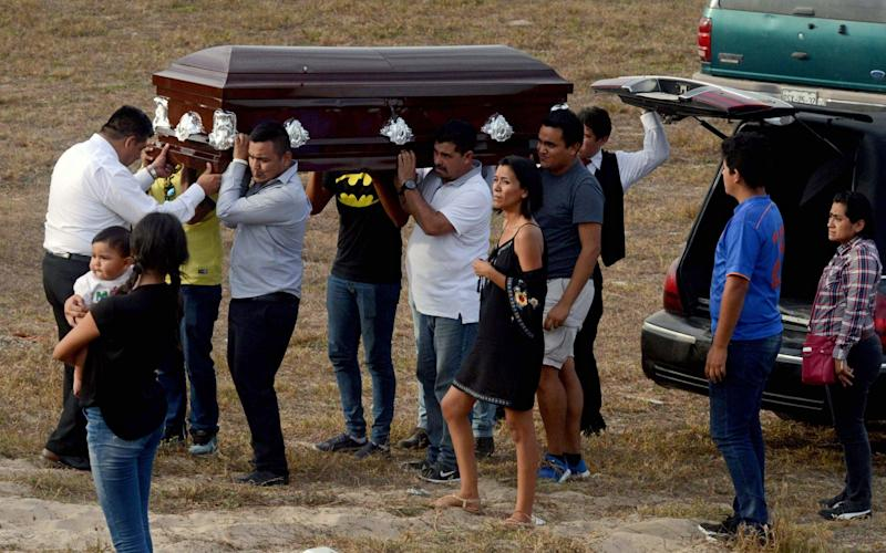 Relatives of Mexican journalist Carlos Dominguez Rodriguez -murdered on January 13 in the state of Tamaulipas - AFP