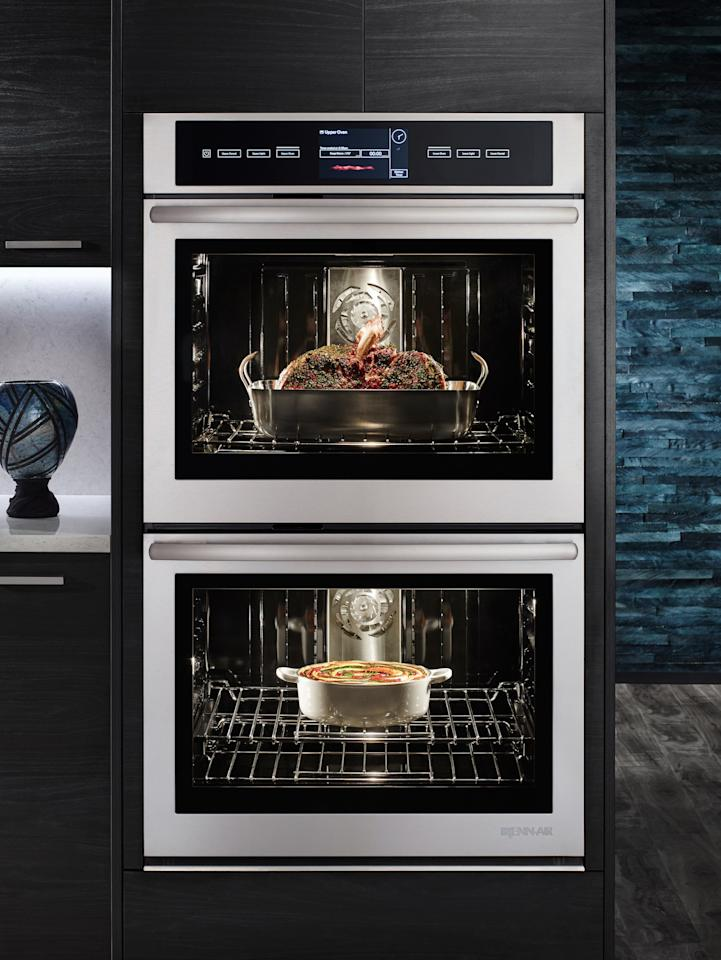 "<p>As the name suggests, Jenn Air allows you to connect to your oven in new ways. Everyone knows that cooking makes the kitchen hotter, and thus, less enjoyable. Now, by way of Nest, the oven senses the rise in room temperature and automatically brings it down to a desirable level. It also connects to Amazon Alexa, which means chefs can command the oven to turn on, off, preheat, and more, without having to smudge the button with dirty fingers. The Jenn Air Connected Wall Oven is an app-based product, so it can send a notification to your smartphone if you leave the oven on. Furthermore, you can switch it on remotely in those instances when you want to come home to a preheated oven. And while some consumers experience buyer's remorse several years after a new products hit the market, Jenn Air hopes that will not be the case with this product, which has software that can be updated so you'll always have the most advanced appliance on the market; <em>Starting at $3,500. <a rel=""nofollow"" href=""https://jennair.com/connect?mbid=synd_yahoolife"">jennair.com/</a></em></p><p><b>More: <a rel=""nofollow"" href=""http://www.architecturaldigest.com/story/high-tech-tent-future-of-camping?mbid=synd_yahoolife"">This High-Tech Tent Could Be the Future of Camping</a></b></p>"