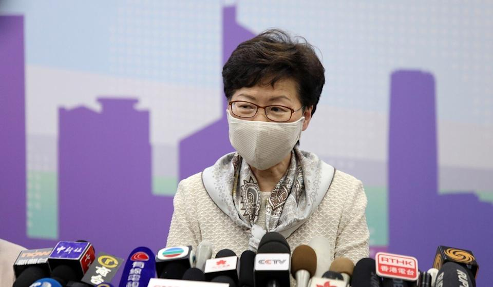 Chief Executive Carrie Lam visited Beijing this week. Photo: Simon Song
