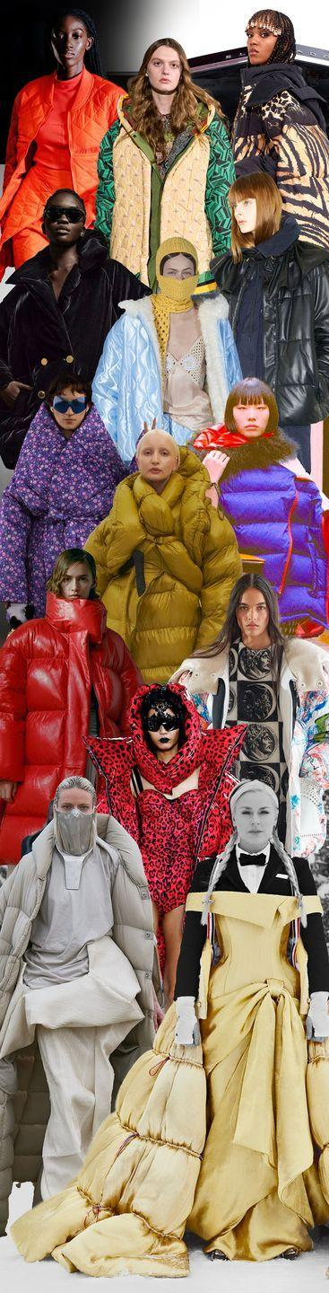 <p>The puffer coat is only gaining momentum. In bold, brash colors like deep purple at Marni or red leopard at Dolce & Gabbana, these are not the classic black puffers you've been sporting. They're high-fashion down pieces designed to make an entrance—in neutral extra-long versions at Rick Owens or on a Victoriana gown at Thom Browne—you'll have your pick and stay extra warm all season long. </p><p><em>Pictured from top to bottom: Eckhaus Latta, Chloe, Roberto Cavalli, Tom Ford, Miu Miu, Tod's, Balenciaga, Ottolinger, Marni, Khaite, Louis Vuitton, Dolce & Gabbana, Rick Owens, and Thom Browne. </em></p>