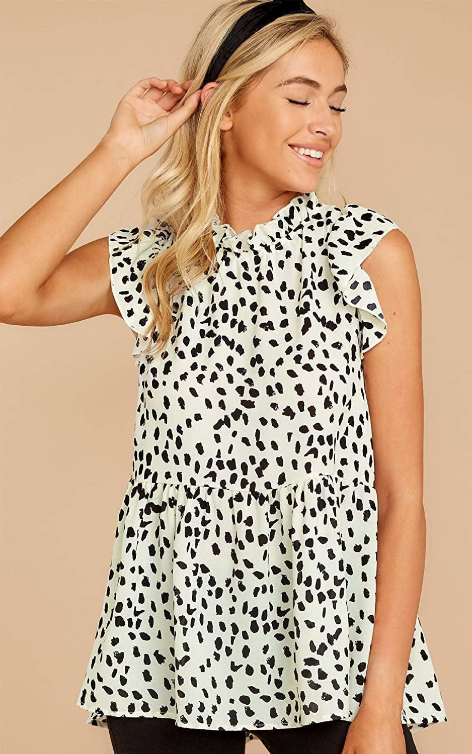 <p>From the office to afterwork drinks, this <span>Angashion Babydoll Shirt</span> ($20 - $26) will stylishly transition into the night. Wear it with pants to make it even more polished.</p>