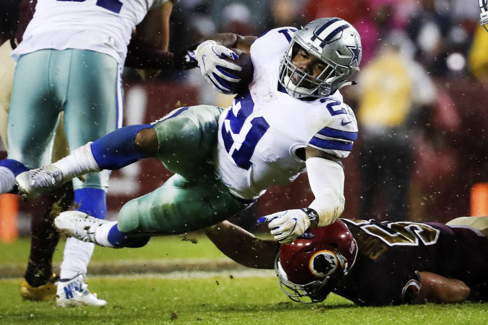 Dallas Cowboys running back Ezekiel Elliott will play on Sunday after being granted a stay. (AP)