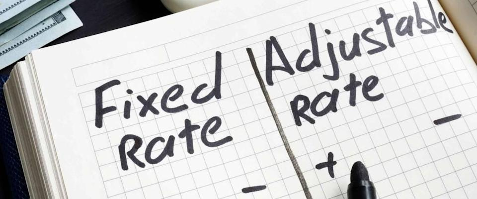 Advantages and disadvantages of a fixed rate mortgage compared to a variable rate mortgage.