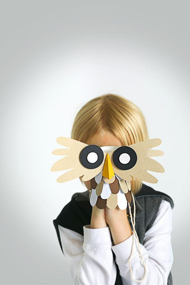 """<p>There's lots of turkey talk already, so why not try another bird-brained project? This paper owl becomes a puppet, hat, or mask, depending on where you attach the string. </p><p><em><a href=""""https://www.goodhousekeeping.com/home/craft-ideas/how-to/g1402/owl-craft/"""" rel=""""nofollow noopener"""" target=""""_blank"""" data-ylk=""""slk:Get the tutorial »"""" class=""""link rapid-noclick-resp"""">Get the tutorial »</a></em> </p>"""