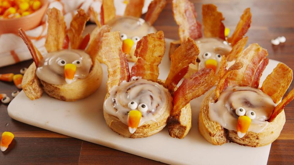"<p>We know Thanksgiving dinner is what people anticipate, but make the morning special, too, with these sweet and savory cinnamon roll turkeys.</p><p>Get the recipe from <a href=""https://www.delish.com/cooking/recipe-ideas/recipes/a56646/cinnamon-roll-turkey-recipe/"" rel=""nofollow noopener"" target=""_blank"" data-ylk=""slk:Delish"" class=""link rapid-noclick-resp"">Delish</a>.</p>"