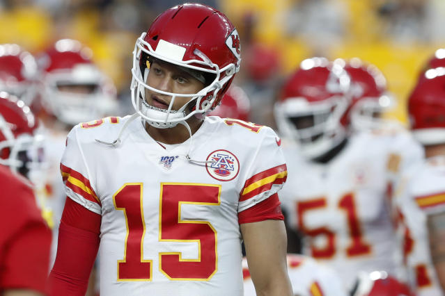 Kansas City Chiefs quarterback Patrick Mahomes will try to repeat as NFL MVP. (AP)