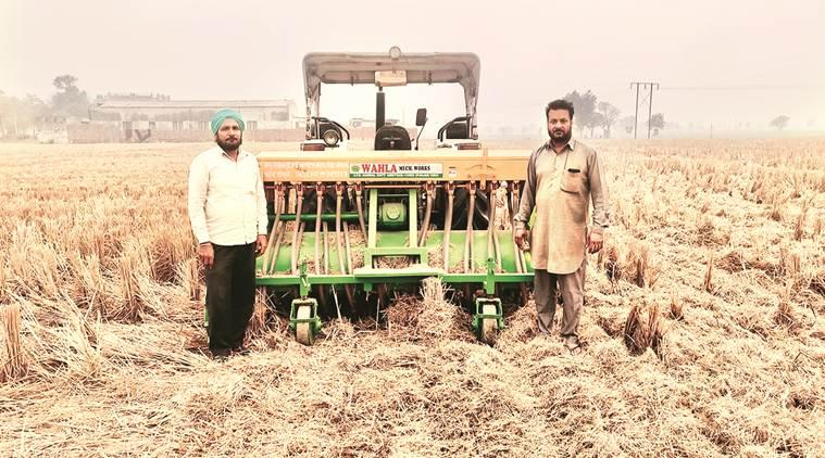 Punjab farmers, Happy Seeders, Punjab Happy Seeders, paddy stubble burning, stubble burning, what is Happy Seeders, Punjab farming, indian express
