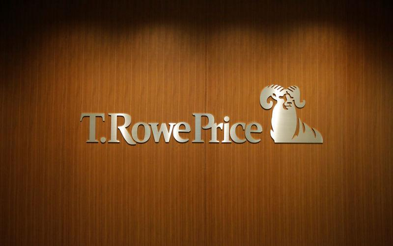 FILE PHOTO: Logo of T. Rowe Price Group is pictured at its office in Tokyo