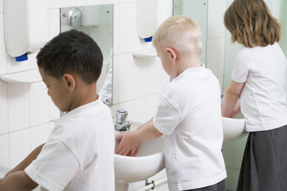 Experts have created a new song to help children wash their hands for long enough [Photo: Getty]