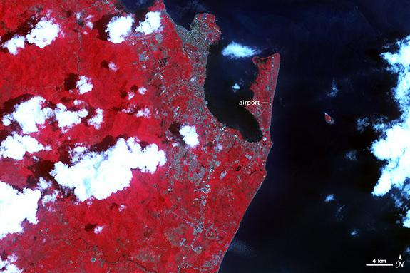 Haiyan Destruction in Philippines Visible from Space