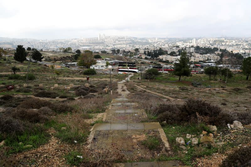 "A general view picture shows part of ""Givat Hamatos"", an area near East Jerusalem"