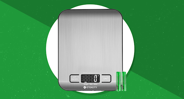 Get the Etekcity Food Digital Kitchen Scale for just $10. (Photo: Amazon)