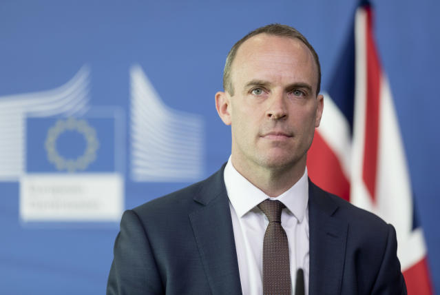 Brexit Secretary Dominic Raab during his visit to Brussels this week (Getty)