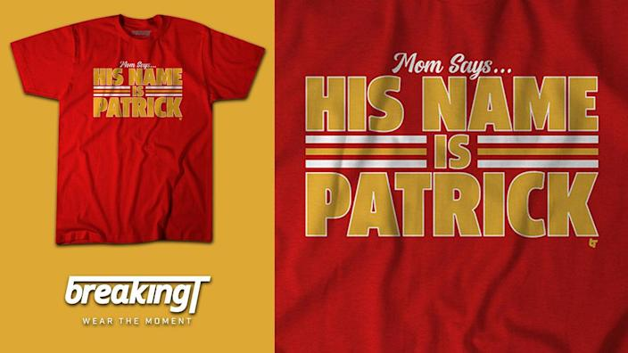 Shop His Name is Patrick Shirt on BreakingT.