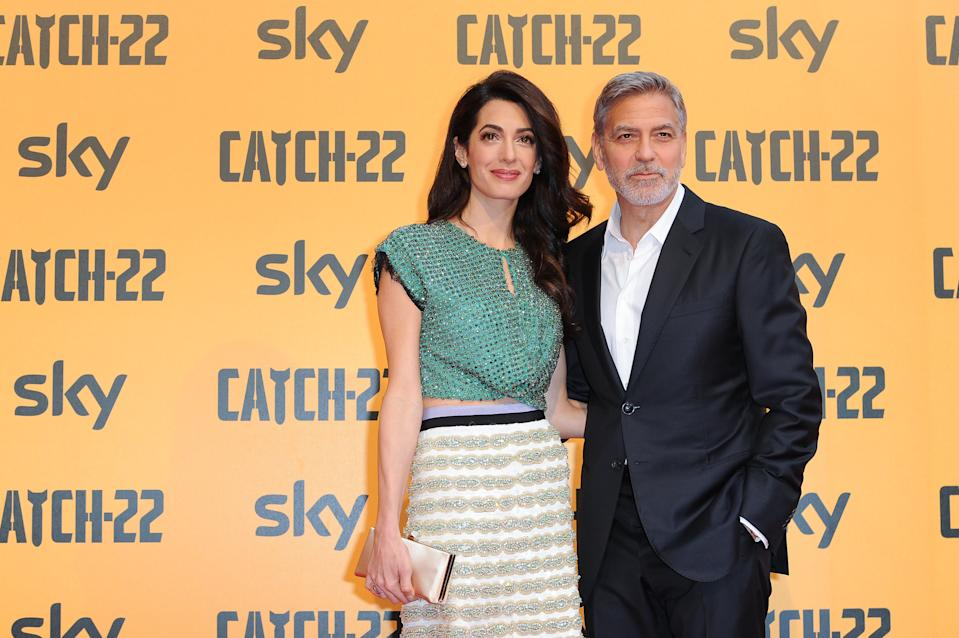 American actor George Clooney and his wife, Lebanese lawyer Amal Clooney attend the premiere of the Sky TV serie Catch-22. Rome (Italy), May 13th, 2019 (Photo by Marilla Sicilia/Archivio Marilla Sicilia/Mondadori Portfolio via Getty Images)
