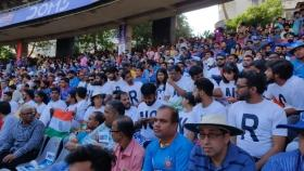 At Wankhede Stadium, CAA-NRC protesters countered with chants of 'Modi-Modi'