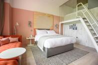 """<p>A heavenly self-catering hometel, <a href=""""https://go.redirectingat.com?id=127X1599956&url=https%3A%2F%2Fwww.booking.com%2Fhotel%2Fgb%2Froom-2-southampton.en-gb.html%3Faid%3D2070929%26label%3Dhampshire-hotels&sref=https%3A%2F%2Fwww.redonline.co.uk%2Ftravel%2Fg37208550%2Fbest-hotels-hampshire%2F"""" rel=""""nofollow noopener"""" target=""""_blank"""" data-ylk=""""slk:Room2 Southampton Hometel"""" class=""""link rapid-noclick-resp"""">Room2 Southampton Hometel</a> sits beside a quiet leafy park close to both the marina and buzzy Oxford Street, lined with restaurants and bars. It's stylishly decorated and each room is fitted with a fully equipped kitchenette, dishwasher, dining table, sofa, TV and ensuite shower room. While here, you can make use of the onsite gym and bar and café area. </p><p><a class=""""link rapid-noclick-resp"""" href=""""https://go.redirectingat.com?id=127X1599956&url=https%3A%2F%2Fwww.booking.com%2Fhotel%2Fgb%2Froom-2-southampton.en-gb.html%3Faid%3D2070929%26label%3Dhampshire-hotels&sref=https%3A%2F%2Fwww.redonline.co.uk%2Ftravel%2Fg37208550%2Fbest-hotels-hampshire%2F"""" rel=""""nofollow noopener"""" target=""""_blank"""" data-ylk=""""slk:CHECK AVAILABILITY"""">CHECK AVAILABILITY</a></p>"""