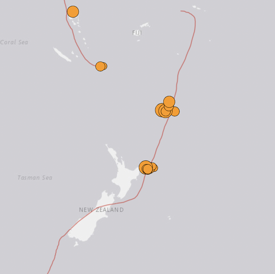 The United States Geological Survey reports numerous magnitude 2.5+ earthquakes in the past day.