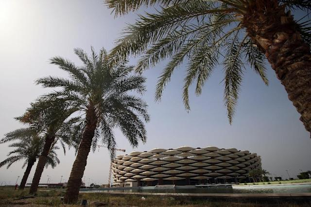 Basra Sports City stadium in the southern Iraqi city is set to host the first international football tournament to be played in the country since the 1950s (AFP Photo/HAIDAR MOHAMMED ALI)