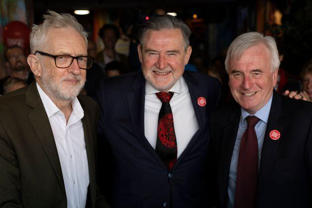 Former Labour leader Jeremy Corbyn, John McDonnell and Barry Gardiner (Photo: Dan Kitwood via Getty Images)