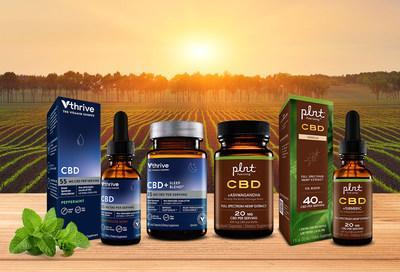 The Vitamin Shoppe has launched a full line of full spectrum CBD under the plnt brand and broad spectrum CBD under the Vthrive The Vitamin Shoppe brand.