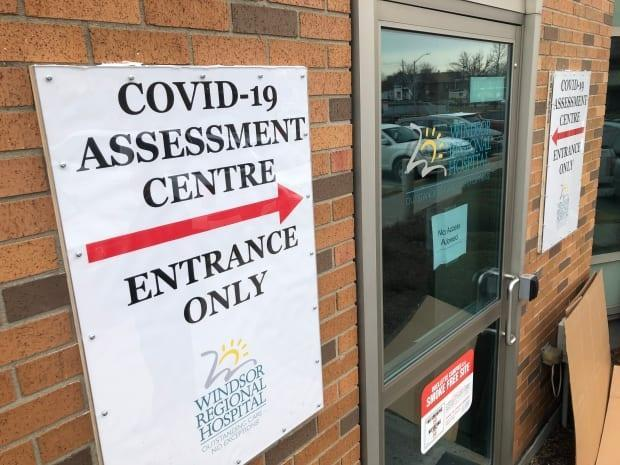 One of Windsor's COVID-19 assessment centres is seen in a file photo. There were 21 new cases of the virus reported by the local health unit on Friday.