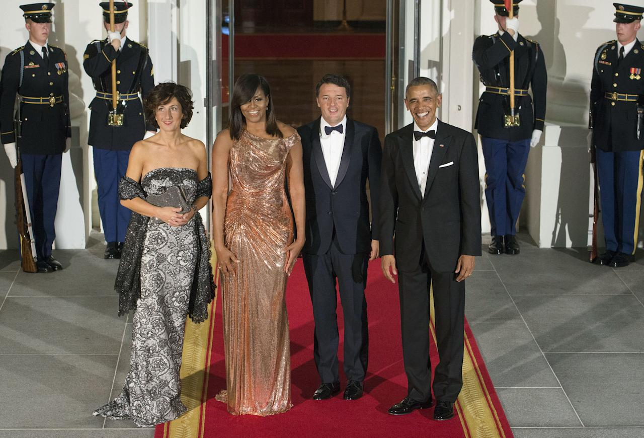 <p><span>Italian Prime Minister Matteo Renzi and his wife, Agnese Landini,<span></span></span>were the guests of honor for PresidentObama'sfinal State Dinner.</p>