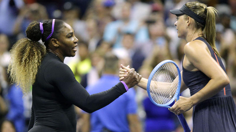 Serena Williams, pictured here after beating Maria Sharapova.