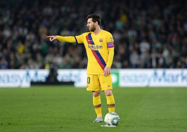 Lionel Messi ran the show for Barcelona away to Betis (AFP Photo/CRISTINA QUICLER)