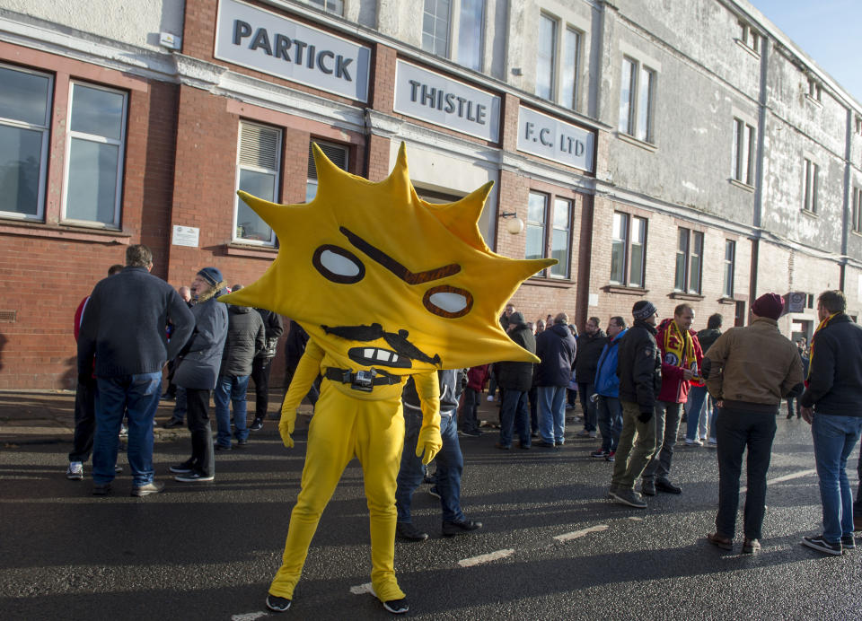Patrick Thistle's mascot, Kingsley, was international news when Turner Prize winner David Shrigley designed it five years ago. To this day, nobody knows what went through Shrigley's mind when he came up with Kingsley.