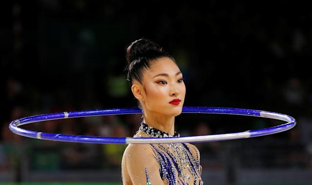 Rhythmic Gymnastics - Gold Coast 2018 Commonwealth Games - Individual Hoop Final - Coomera Indoor Sports Centre - Gold Coast, Australia - April 13, 2018. Enid Sung of Australia. REUTERS/David Gray TPX IMAGES OF THE DAY