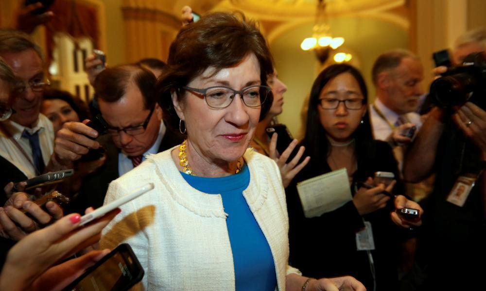 """<span class=""""element-image__caption"""">Susan Collins of Maine has broken with the party on the environment, gun control and same-sex marriage.</span> <span class=""""element-image__credit"""">Photograph: Yuri Gripas/Reuters</span>"""